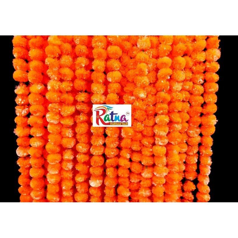 Dark Orange Marigold Flower Garland