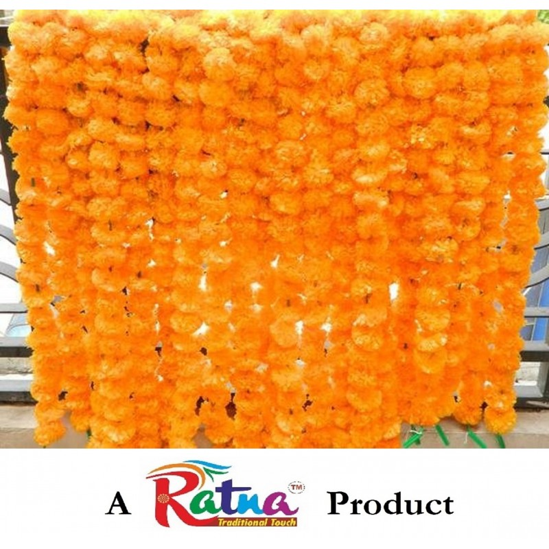 Artificial Mango Color Flower garland